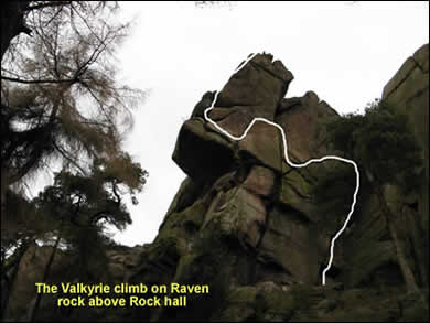 Valkyrie climbing route
